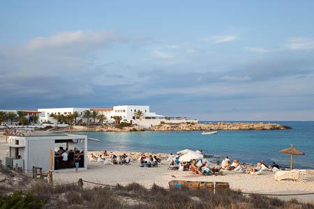 De baai van Es Pujols, Formentera