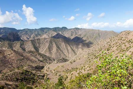 De bergen van La Gomera