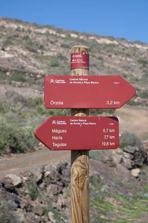 Bewegwijzering Camino Natural, Lanzarote
