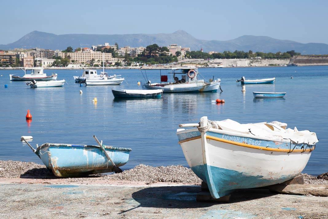 De baai van Garitsa, Corfu