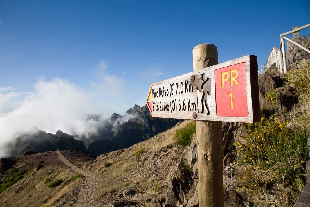 Wandelen op Madeira, Pico do Arieiro en Ruivo