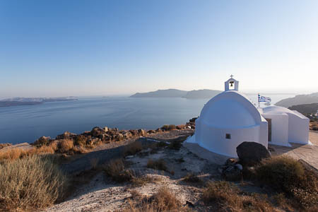 Kapel tussen Oia en Imerovígli, Santorini