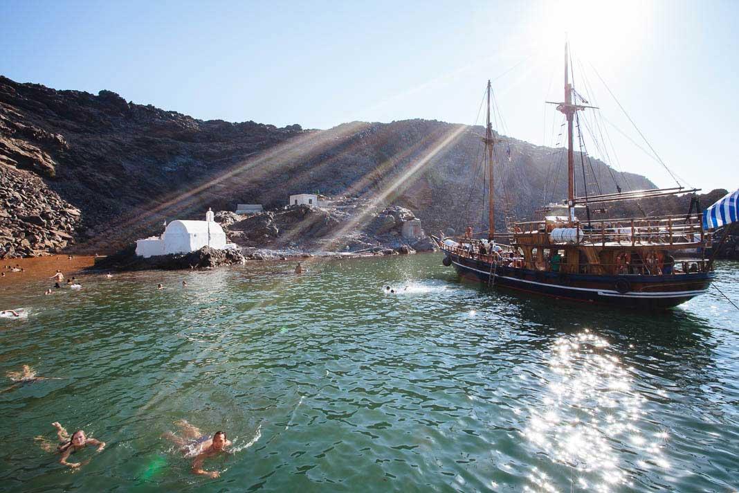Wandelen op Santorini