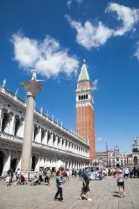 Het San Marco plein in Venetie