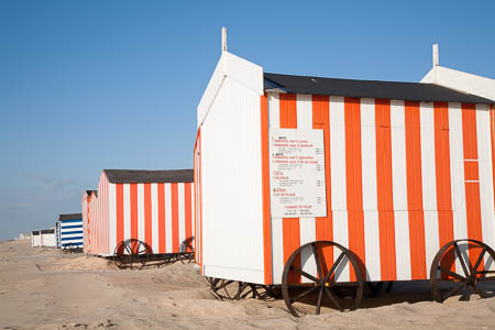 Strandhuisjes op wielen in De Panne