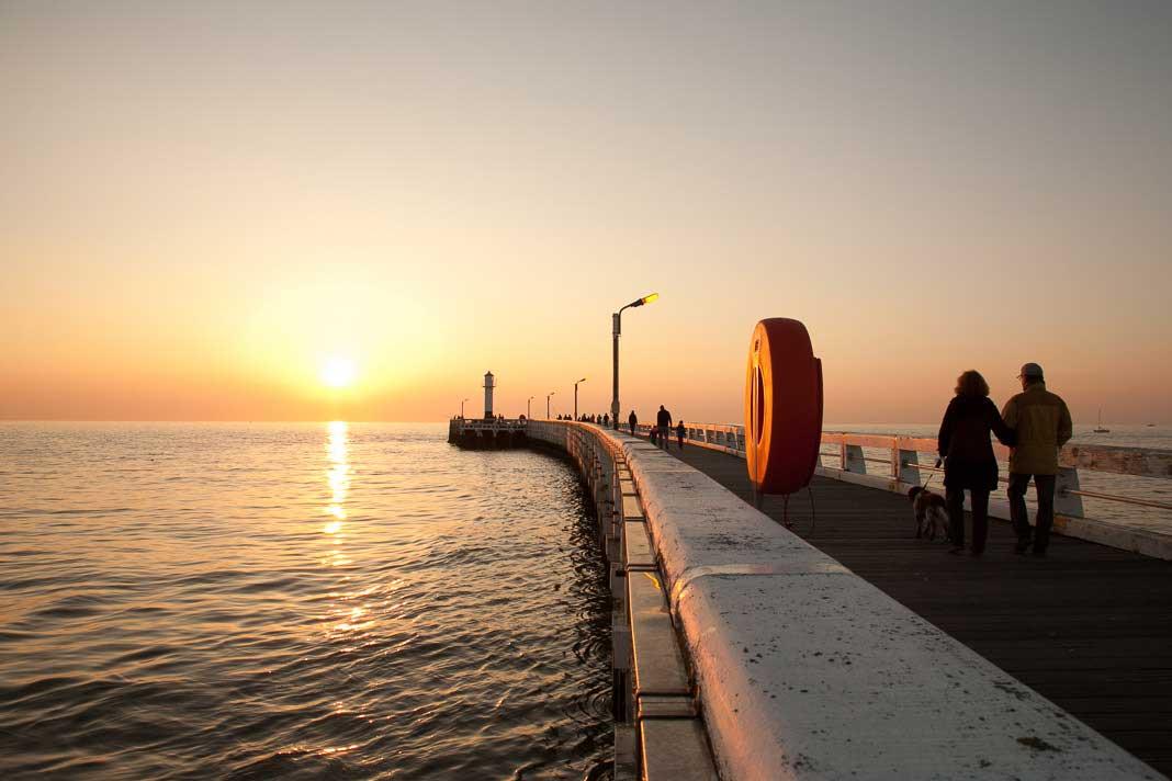 De pier van Nieuwpoort
