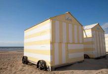 Strandhuisjes langs de Vlaamse kust