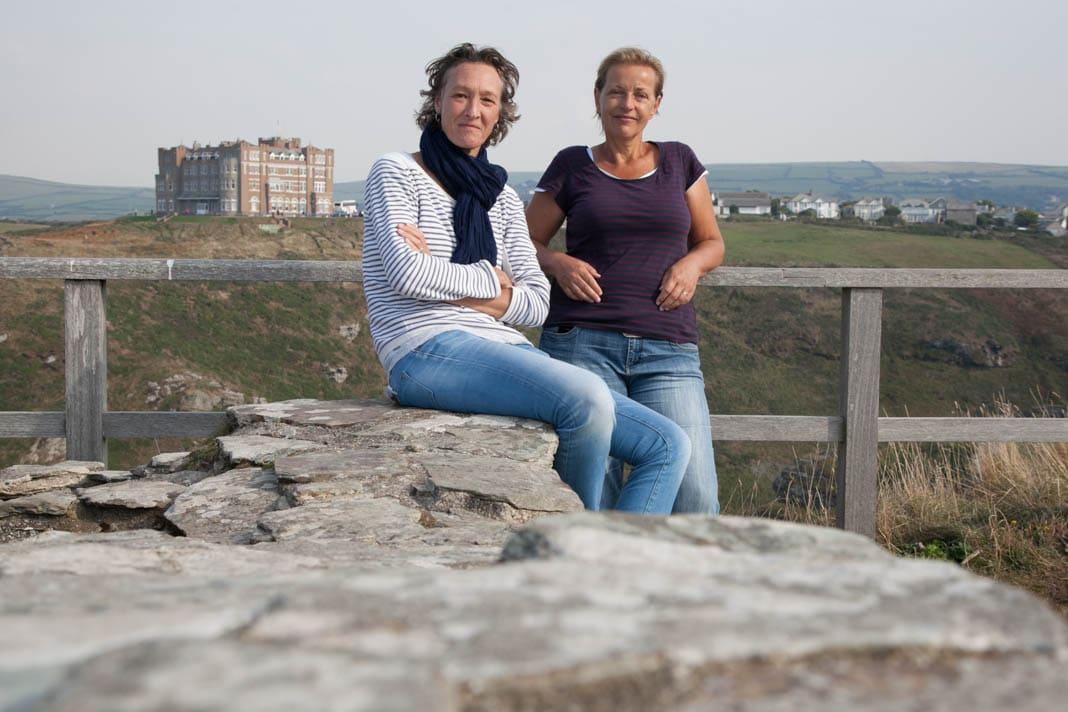 Tineke Zwijgers (r) en Dorien Koppenberg (l)