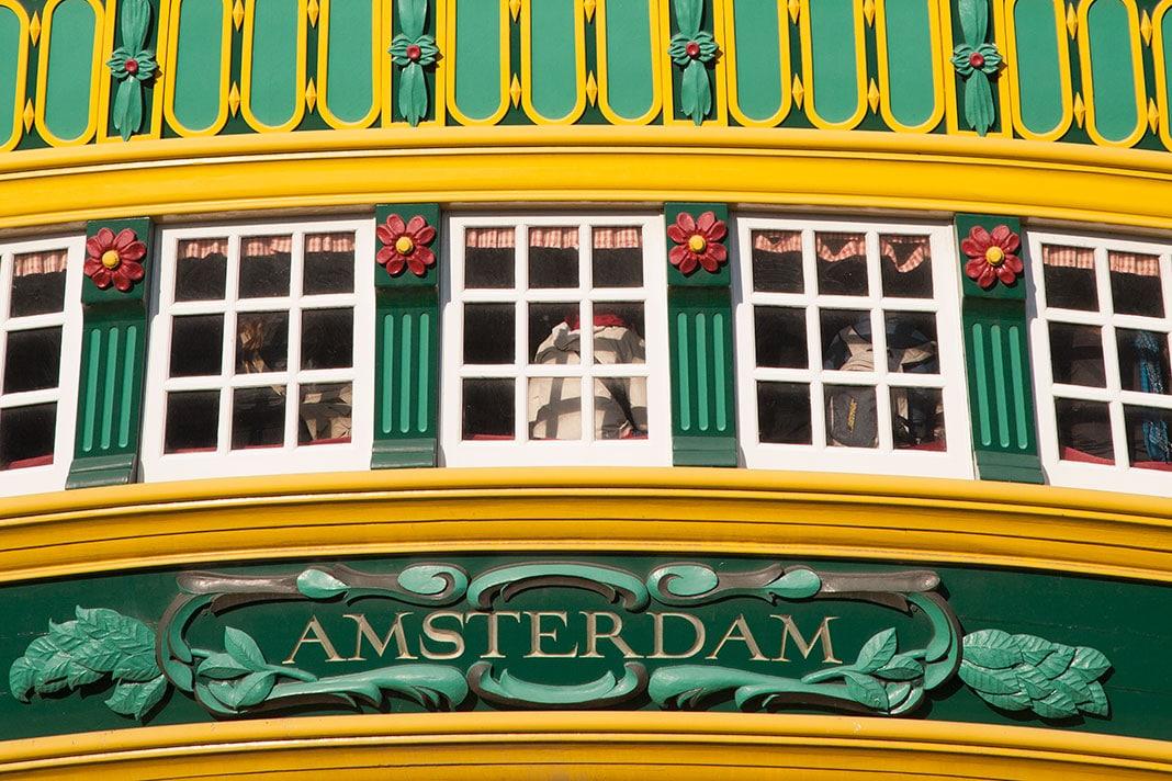 Spiegel van VOC-schip de Amsterdam