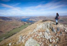 Uitzicht op Ullswater en Patterdale, The Lake District