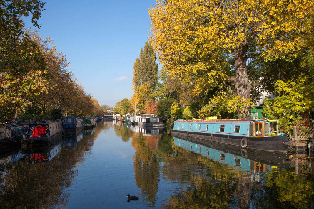 Het Regent's Canal bij Little Venice