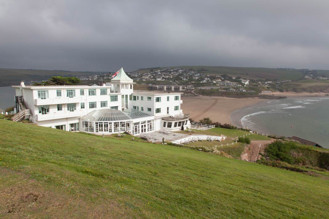 Het Burgh Island Hotel in Bigbury-on-Sea
