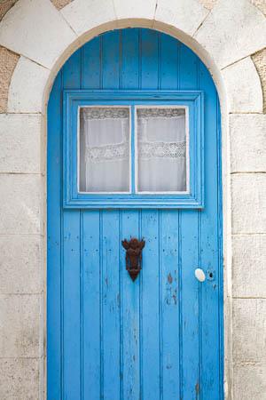 Blauwe deur op Île de Bréhat