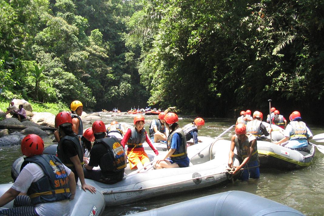 Raften op de Ayung rivier, Bali