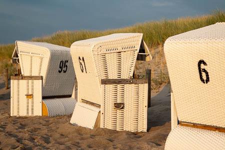 Strandstoelen bij Ahrenshoop