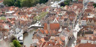 Zicht op de Rozenhoedkaai, Brugge