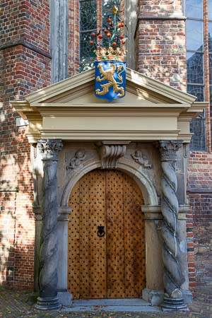 Het 'Oranjepoortje' van de Grote of Jacobijnerkerk in Leeuwarden