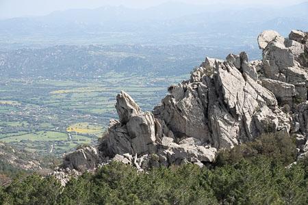Uitzicht vanaf Monte Pino, Sardinie