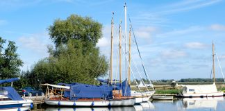 De haven van Upton Green