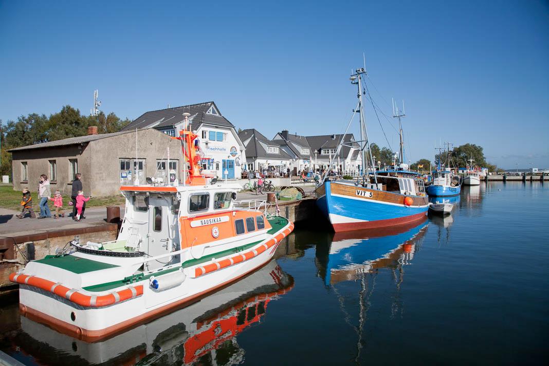 De haven van Vite op Hiddensee
