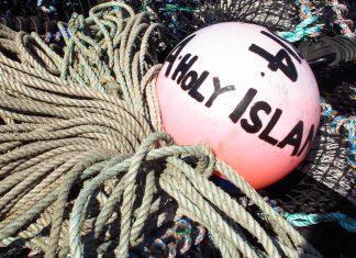 Vissersboten op Holy Island