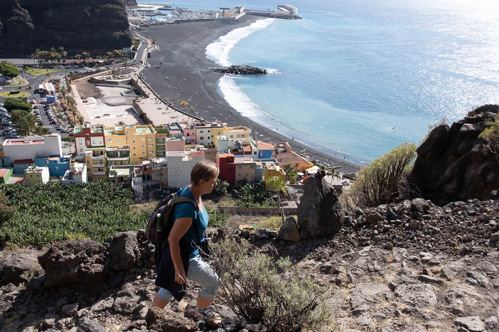 Wandelpad van Puerto Tazacorte naar Mirador del Time
