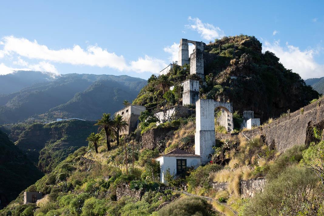 Oude watermolens Molinos de Bellido in Santa Cruz, La Palma
