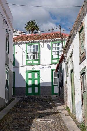 Oude wijk in Santa Cruz, La Palma