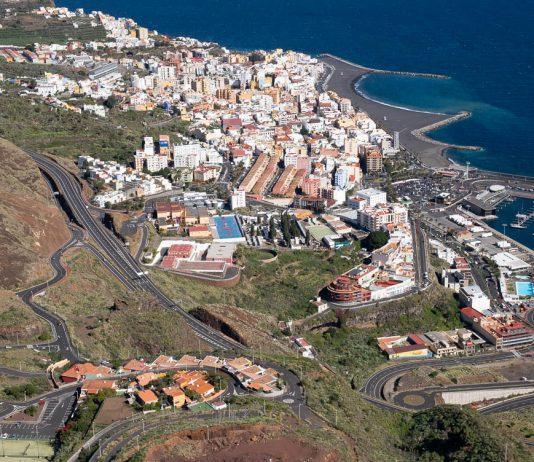 Zicht op Santa Cruz de La Palma