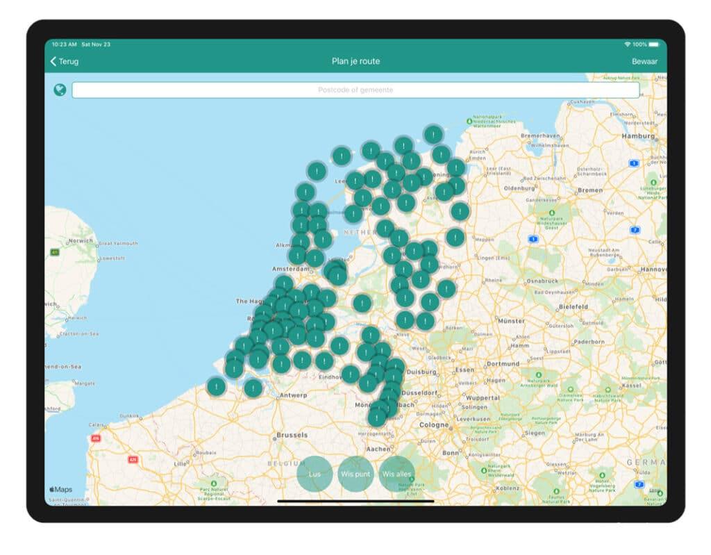 Wandelknooppunten app Nederland